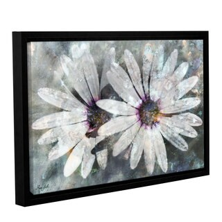 Roozbeh Bahramali's 'Flower Of Hope' Gallery Wrapped Floater-framed Canvas