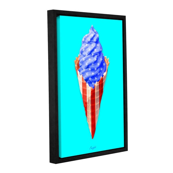 Roozbeh Bahramali's 'American Cone' Gallery Wrapped Floater-framed Canvas. Opens flyout.