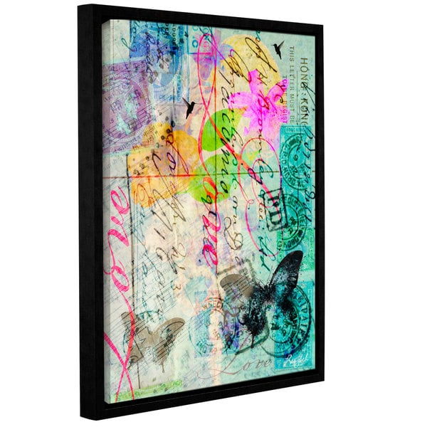 Roozbeh Bahramali's 'Love' Gallery Wrapped Floater-framed Canvas