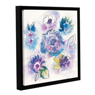 Dusty Knight's 'Bright Floral VII' Gallery Wrapped Floater-framed Canvas
