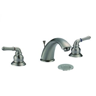 Thames Roman Brushed Nickel 3-hole Double Handle Widespread Bathroom Faucet
