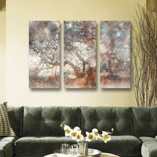 Roozbeh Bahramali's 'Wisdom Tree' 3-piece Gallery Wrapped Canvas Set