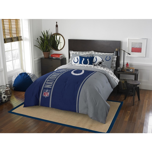 The Northwest Company NFL Indianapolis Colts Full 7-piece Bed in a Bag with Sheet Set