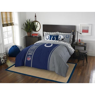 NFL 846 Colts Full 7-piece Bed in a Bag with Sheet Set