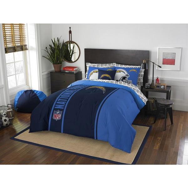 The Northwest Company NFL Los Angeles Chargers Full 7-piece Bed in a Bag with Sheet Set
