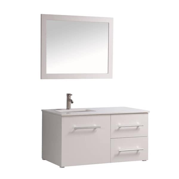MTD Vanities Nepal Painted White WoodOakCeramic Inch Single - 41 inch bathroom vanity