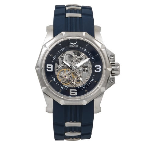 Aquaswiss Unisex Automatic Vessel G Blue Stainless Steel and Silicone Watch