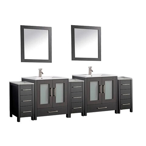 Argentina 108 Inch Double Sink Bathroom Vanity Set