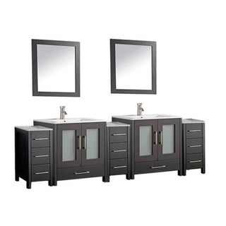 Argentina 108-inch Double Sink Bathroom Vanity and Cabinet Set