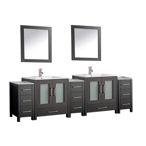 Shop argentina 96 inch double sink bathroom vanity set - 50 inch double sink bathroom vanity ...