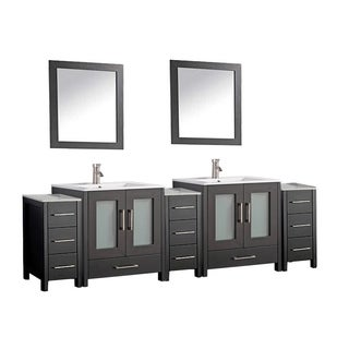 Argentina 96-inch Double-sink Bathroom Vanity Set