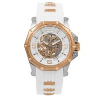 Aquaswiss Unisex White/Rose Gold Automatic Vessel G Watch