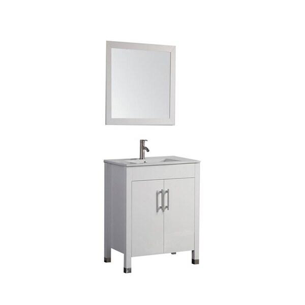 Shop MTD Vanities Monaco White 24-inch Single-sink Bathroom Vanity Set - Free Shipping Today - Overstock - 12135875