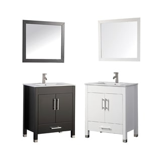 MTD Vanities Monaco White 24-inch Single-sink Bathroom Vanity Set