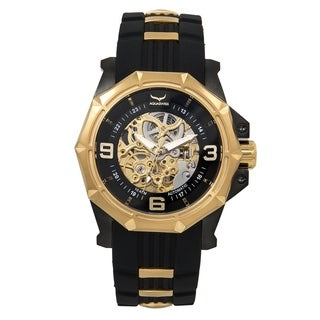 Aquaswiss Vessel G 81GA005 Black/Gold Silicone/Stainless Steel/Sapphire-coated Mineral Automatic Unisex Watch