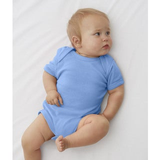 Rabbit Skins Rib Lap Shoulder Carolina Blue Infant Bodysuit