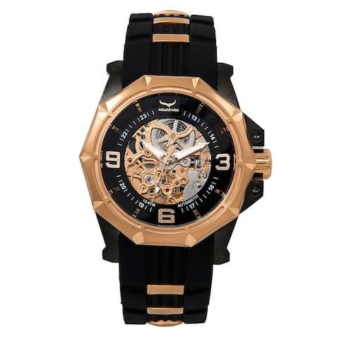 Aquaswiss Unisex 81GA004 Black/Rosegold Automatic Vessel G Watch
