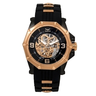 Aquaswiss Unisex 81GA004 Black/Rosegold Automatic Vessel G Watch