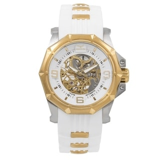 Aquaswiss Unisex Vessel G 81GA003 White/Gold Silicone/Stainless Steel/Sapphire-coated Mineral Automatic Watch