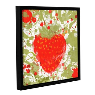 Irena Orlov's 'Strawberry' Gallery Wrapped Floater-framed Canvas