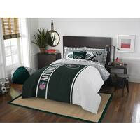 The Northwest Company NFL New York Jets Full 7-piece Bed in a Bag with Sheet Set