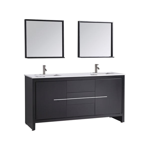 Fabulous Shop Cypress 72 Inch Modern Double Sink Bathroom Vanity Set Download Free Architecture Designs Embacsunscenecom