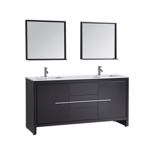 Cypress 72-inch Modern Double Sink Bathroom Vanity Set