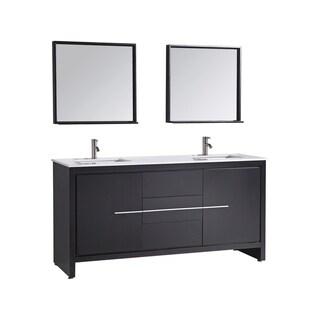 Cypress 72-inch Modern Double Sink Bathroom Vanity Set