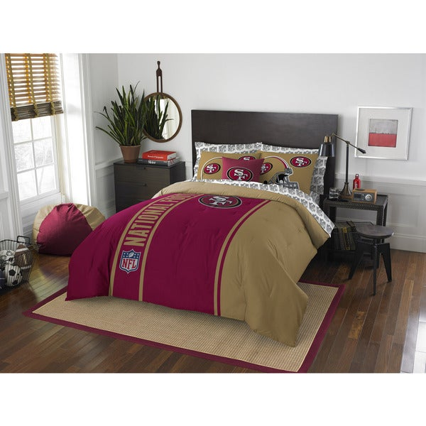 The Northwest Company NFL San Francisco 49ers Full 7-piece Bed in a Bag with Sheet Set