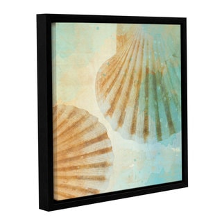 Irena Orlov's 'Brown Seashells' Gallery Wrapped Floater-framed Canvas