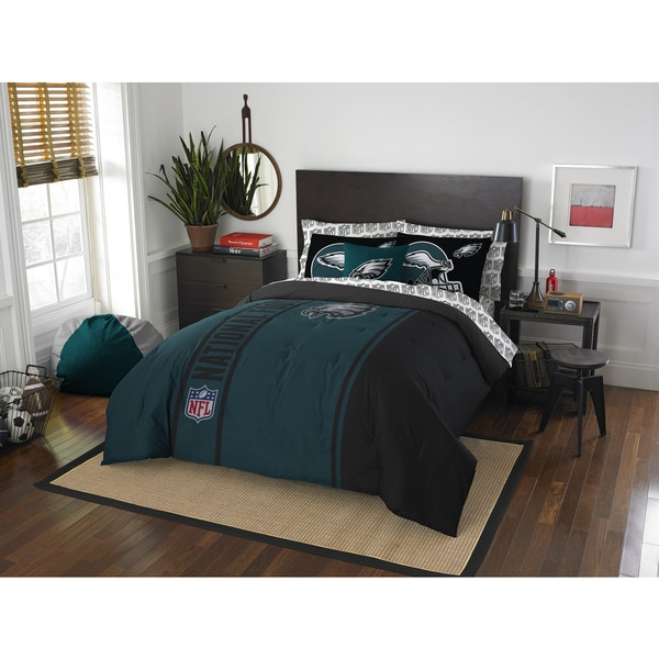 The Northwest Company NFL Philadelphia Eagles Full 7 Piece Bed In A Bag  With Sheet