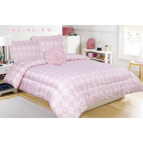 Peyton Pink Comforter Set with Decorative Pillow - Free Shipping Today - Overstock.com - 18992767
