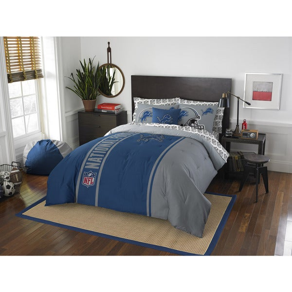 The Northwest Company NFL Detroit Lions Full 7-piece Bed in a Bag with Sheet Set