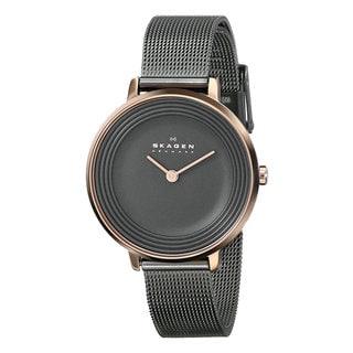 Skagen Women's SKW2277 Ditte Charcoal Grey Stainless Steel Quartz Watch