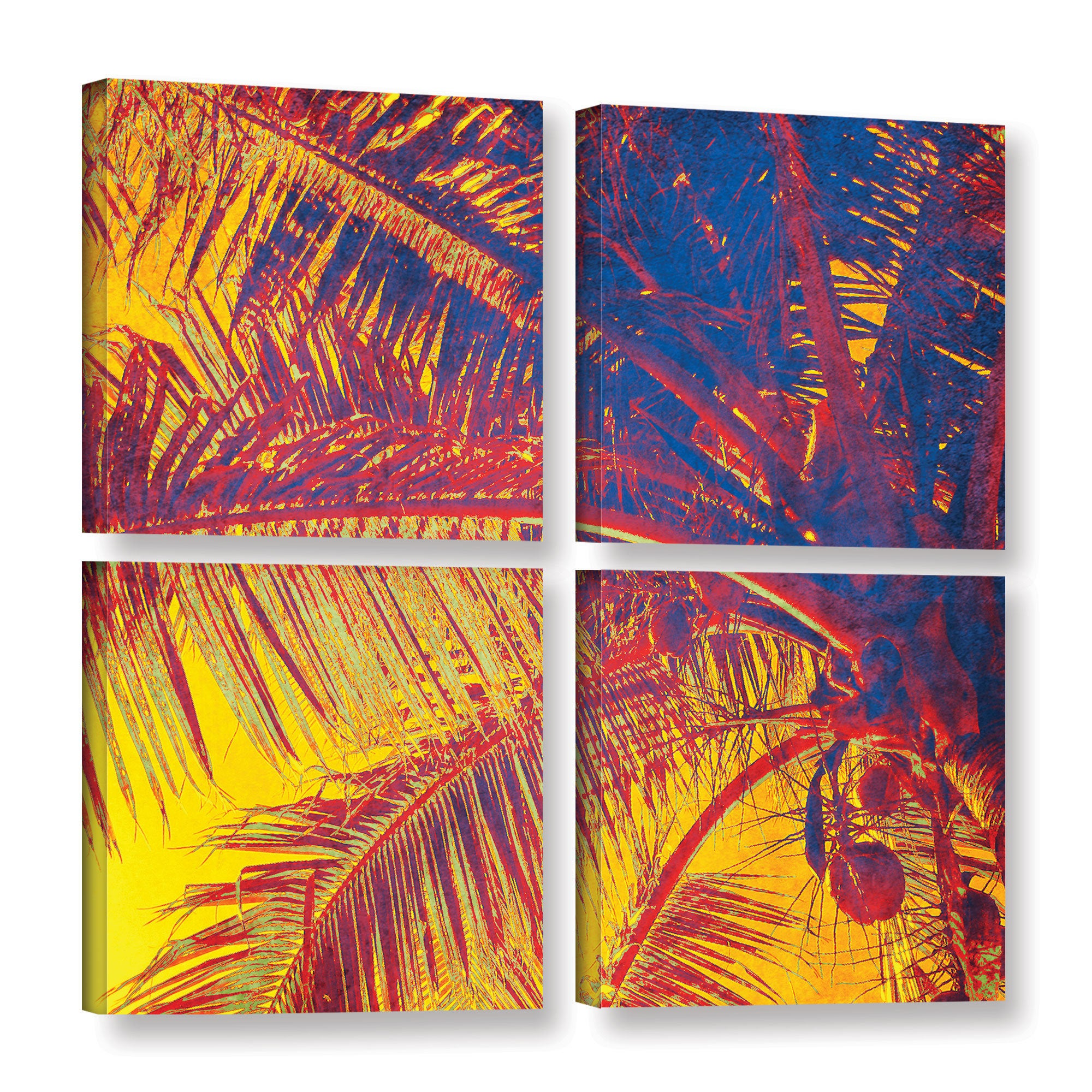 ArtWall Irena Orlov's 'Tropical Coast' 4-piece Gallery Wr...
