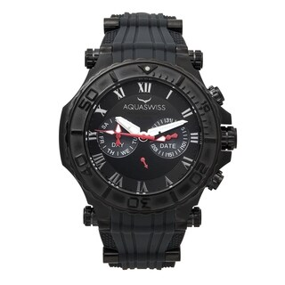 Aquaswiss Men's 39G5011 Grey and Black Stainless Steel Bolt 5H Watch