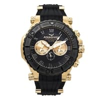 Aquaswiss Men's Black and Gold Bolt 5H Watch