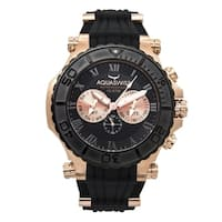 Aquaswiss Men's  Black and Rosegold Stainless Steel Bolt 5H Watch