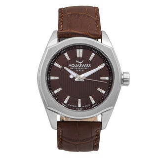 Aquaswiss 20G4003 Brown Leather/Stainless Steel/Sapphire-coated Mineral Classic Unisex Watch