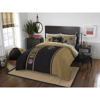 NFL 846 Saints Full 7-piece Bed in a Bag with Sheet Set