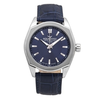 Aquaswiss Unisex Classic IV 20G4004 Blue Leather and Stainless Steel Watch