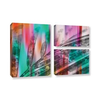 Irena Orlov's 'Unique Array Of Colors III' 3-piece Gallery Wrapped Canvas Flag Set