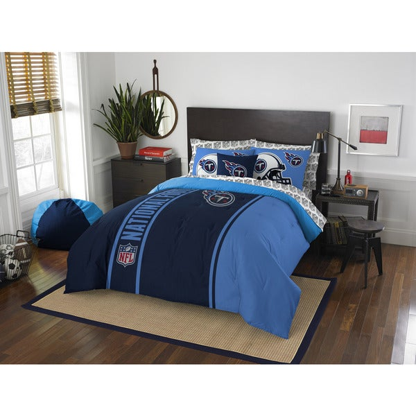 The Northwest Company NFL Tennessee Titans Full 7-piece Bed in a Bag with Sheet Set