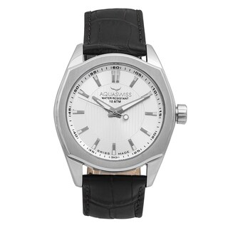 Aquaswiss Unisex 20G4001 Classic IV Black Leather and Stainless Steel Watch