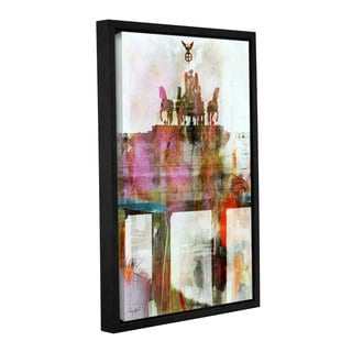 Roozbeh Bahramali's 'Parisian Rider' Gallery Wrapped Floater-framed Canvas