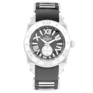 AQS Unisex Black/Silver/White Swissport G Watch