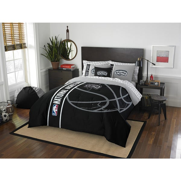 The Northwest Company NBA San Antonio Spurs Full 7-piece Bed in a Bag with Sheet Set