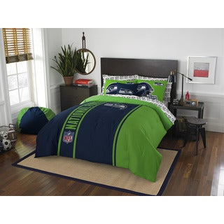 NFL 846 Seahawks Full 7-piece Bed in a Bag with Sheet Set