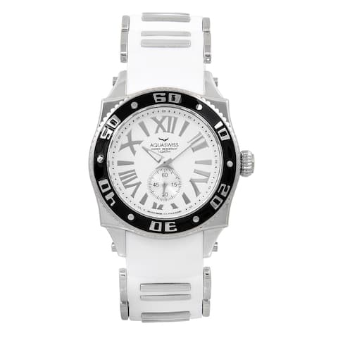 AQS Swissport G 62G0107 White/Silvertone/Black Stainless Steel Unisex Watch
