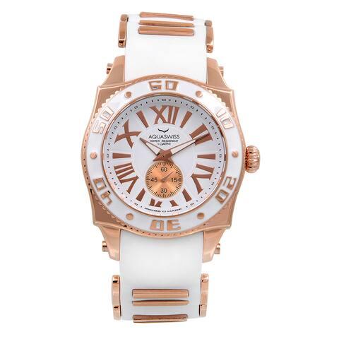 Aquaswiss Unisex White/Rosegold Swissport G Watch